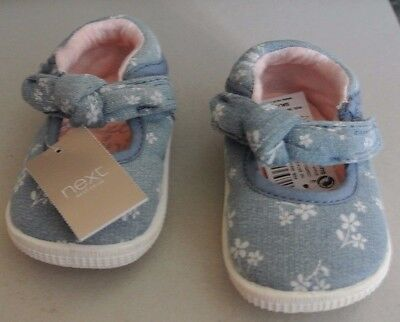 New Next Baby girls shoes Blue size 1 infant 3-6 months