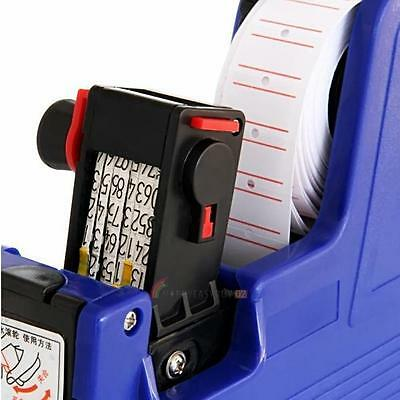 MX-5500 8 Digits EOS Price Label Tag Gun +500White / Red Lines Labels+1 Ink CA
