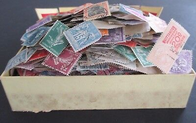 VINTAGE COLLECTION OF FRANCE & BELGIUM IN OLD CIGAR BOX - FEW 1000s