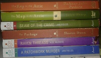 Lot of 6 Annie's Attic and Annie's Quilted Mysteries Books S5