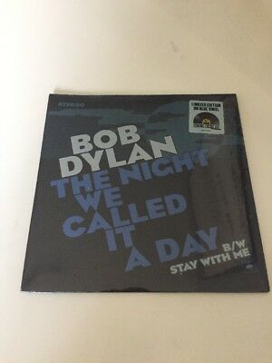 Bob Dylan - The Night We Called It A Day - Blue Vinyl 7 Rsd 2015 Sealed