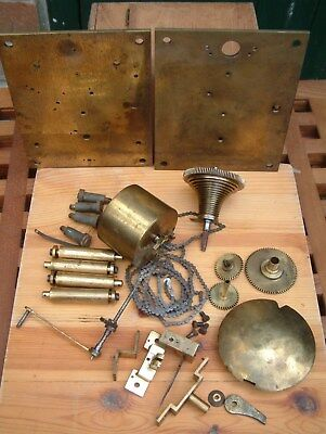 Vintage Elliott Fusee clock movement for repair or spares