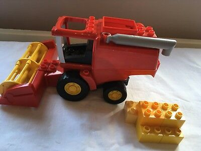 Lego Duplo Red Combine Harvester - Great for any Duplo Farm