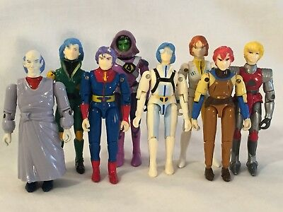 "Vintage ROBOTECH Action Figure Lot ""Max,Lisa,Zor,Corg,Dana"" Anime 1985, Matchbox"