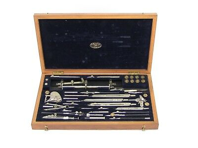 Richter Germany Pracision Drafting Set In Wooden Case - Lots of Tools
