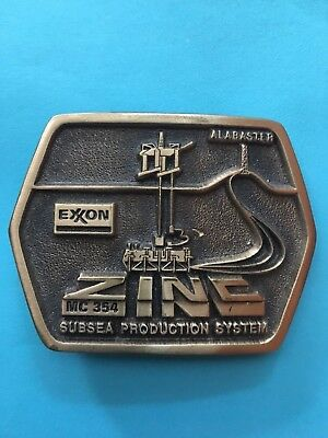 Exxon Zinc Subsea Productions System - Collectors Belt Buckle
