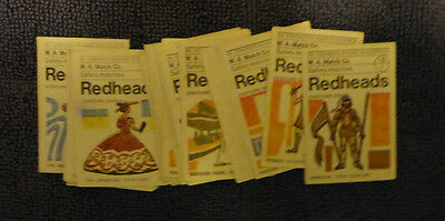 Vintage W.a Match Co Redheads Matchbox Labels Set - Costumes ( 32)