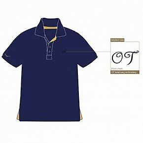 Townend Brucester Polo Shirt - Navy/Gold - Medium - Horse Equestrian Shirts