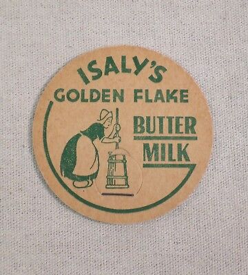 Vintage Isaly's Golden Flake Butter Milk Cap Youngstown Ohio Excellent Condition
