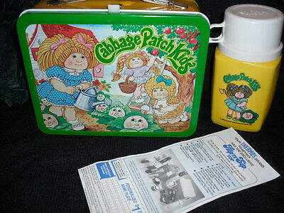 1983 Cabbage Patch Kids Unused Lunch Box & Thermos w/ Paper * Mint/NM * Vintage