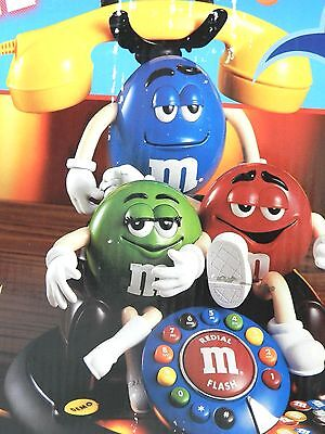 M & M Animated Talking Telephone 3 M&M Men New