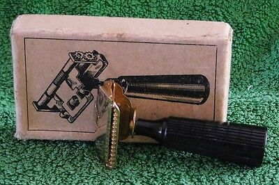 alter Rasierhobel GEM JUNIOR BROOKLYN NEW NORK Made in USA Safety Razor vintage
