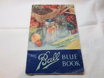 vintage 1941 Ball Blue Book canning and preserving handbook