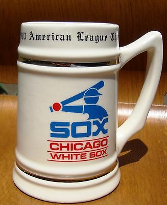 Vintage 1983 World Series Chicago White Sox Beer Stein Mug 22 FL OZ Made in USA