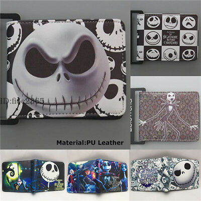 The Nightmare Before Christmas Wallet Bifold Purse Card Layers Zip Coin Bag Gift