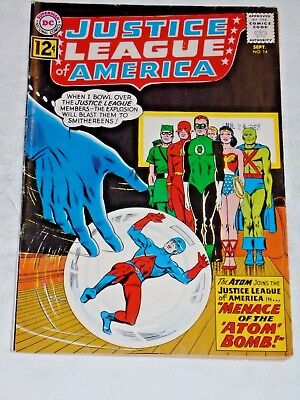 Justice League Of America #14 comic (FN) Atom Joins Justice league 1962