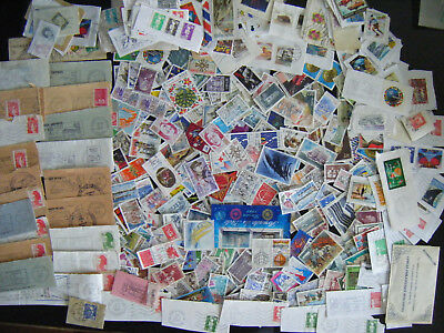 Enorme Lot Vrac Collection Timbres Majorite France + 300 Grammes Accumulation