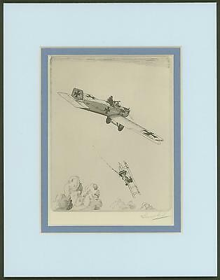 Junker All-Metal Monoplane - Vintage Collotype by Howard Leigh - Ready to Frame