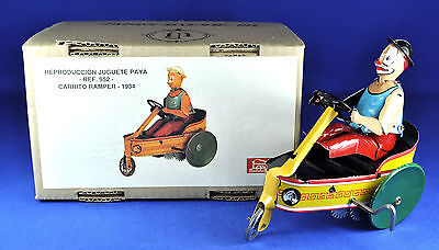 Blech / Tin Toy: Paya Clown in Wagen - in Trolley, Carrito Ramper, 1990er / ies