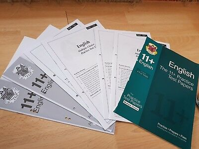CGP the English 11+ Practice test papers multiple choice pack
