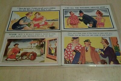Postcard old vintage cartoon super comic colourful funny collectable