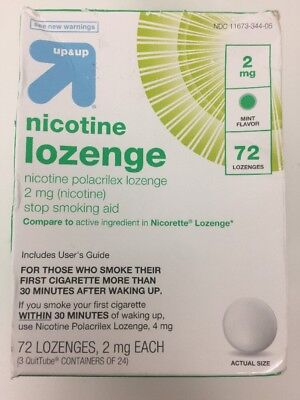 UP & UP Nicotine Polacrilex Lozenge 2mg Mint Flavored 72 ct  Compare to Nicoret