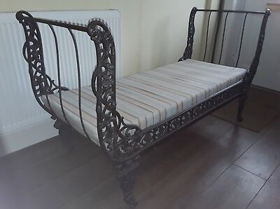 Victorian style cast iron day bed