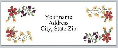 Personalized address labels Flowers Buy 3 get 1 free (xac 798)
