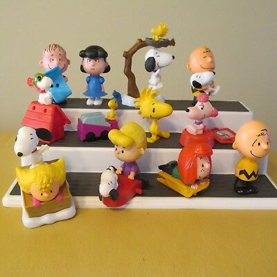 2015 Mcdonalds The Peanuts Movie Complete Set 12 Figures Snoopy Lucy Woodstock