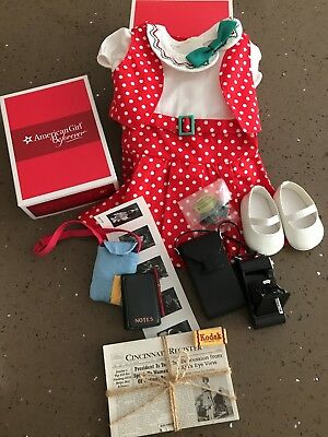 """American Girl KIT's Reporter Dress & Reporter Accessories Set Outfit 18"""" dolls"""