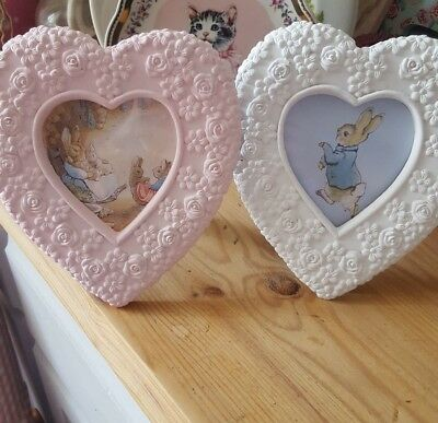 New Beautiful Beatrix Potter picture frame, peter rabbit photo frame. New Baby