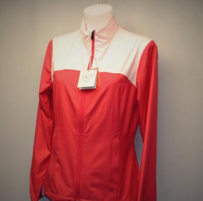 New SMALL Ladies Puma Tech Wind Golf Jacket Rose red Polyester