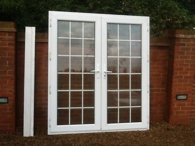 Upvc patio french doors used picclick uk for External french doors and frame