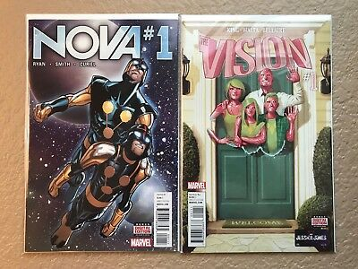 Marvel 2016 Nova #1 and Vision #1  NM++