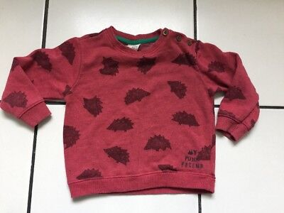 Zara Baby Boys Red hedgehog Print Jumper, Age 18-24 Months