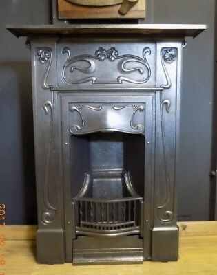 cast iron fireplace edwardian victorian, antique, c.1904