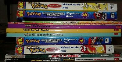 Lot of 11 Pokemon Books and Manga Comics S7