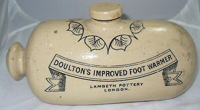 Vintage Doulton's Improved Foot Warmer Lambeth Pottery London Stoneware