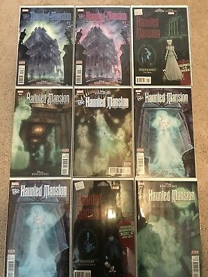 Marvel/Disney Haunted Mansion #1-5 Lot Variants (12 Issues Total) NM++