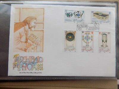 First Day Cover Douglas Isle of Man 1989 Archibald Knox  ca