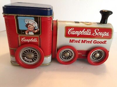 Vintage old Rare Campbell's Soup Train Container Advertising Promo Tin US Seller