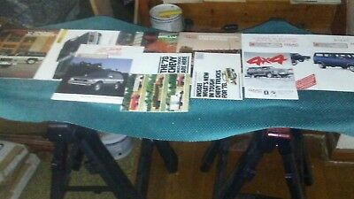 LOT OF 10 GMC MISC. Flyers Pamphlets Magazines ETC. READ