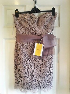 Taupe Lace Cocktail Dress by Noir (Miss Bush Boutique) - UK10 (New with tags)