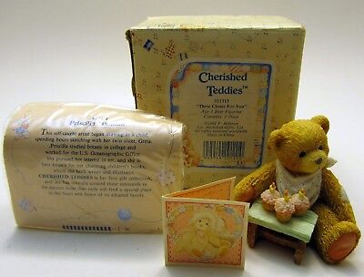 Cherished Teddies - Three Cheers For You - Age 3 Bear with Cupcakes #911313