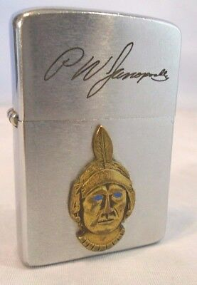 Vintage 1962 Zippo Lighter Navajo Freight Trucking Blue Eyed Indian