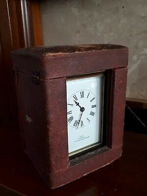 Antique 5 Glass Carriage Clock By Pinney Of Uppingham & Stamford Orig Box