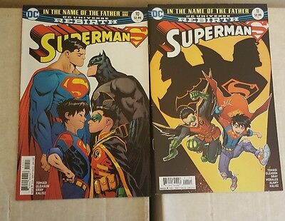 Superman (vol 4) 10 & 11 (Batman Robin Superboy)   1st Supersons