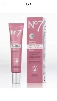 No7 Restore And Renew Face & Neck Multi Action Serum 50ml BIGGER SIZE BNIP