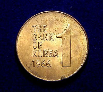 South Korea 1 Won 1966 Key Date! Nice Coin!
