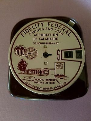Vintage Fidelity Federal Savings And Loan Add A Coin Bank